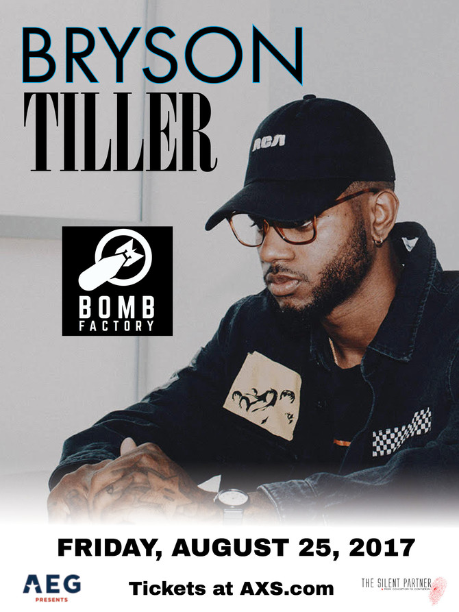 Bryson Tiller at the Bomb Factory with H.E.R and Metro Boomin  Fri. Aug. 25