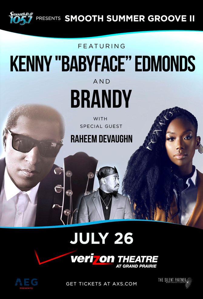 """On Sale Friday: Kenny """"Babyface"""" Edmonds and Brandy with special guest Raheem DeVaughn"""