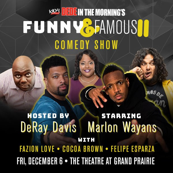 The Funny & Famous Comedy Show is Coming to Dallas 12/6
