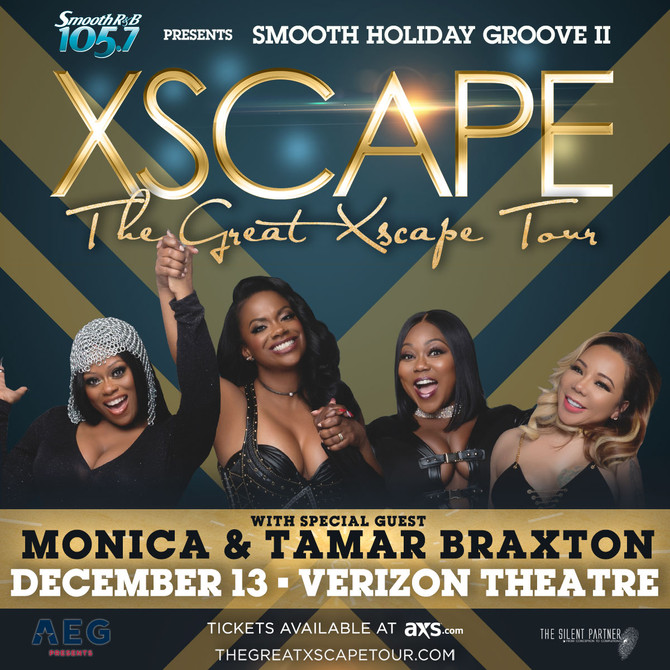 Xscape Live in Concert on Dec. 13th at Verizon Theatre w/ Tamar Braxton and Monica - Get Your Ticket