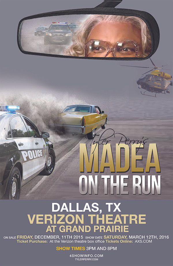 "The Silent Partner presents Tyler Perry's ""Madea on the Run"""