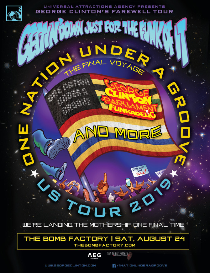 George Clinton's Farewell Tour - The Mothership is landing one final time at The Bomb Factory in Dal