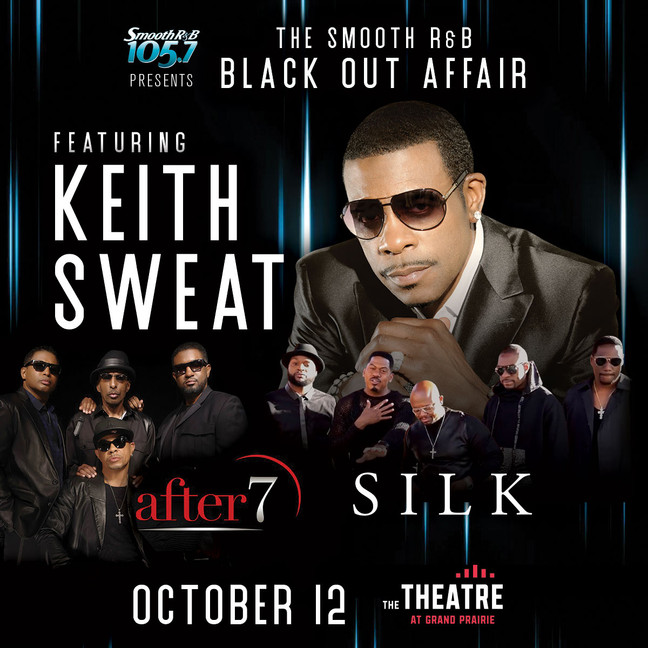 New Show On Sale Now → Keith Sweat The Smooth R&B Black Out Affair!