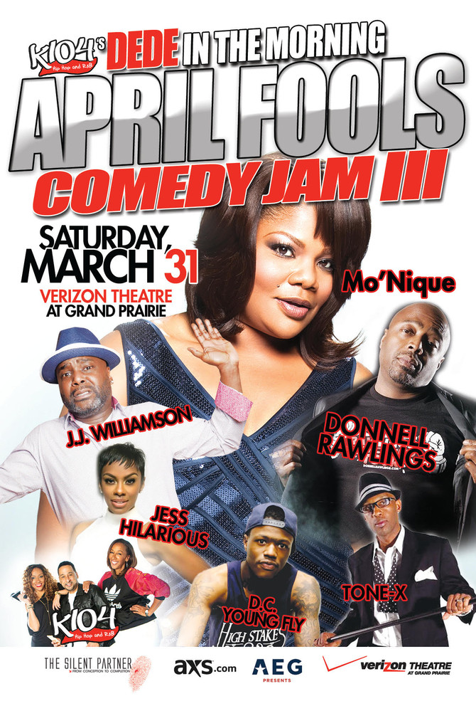 K104's DeDe in the Morning April Fools Comedy Jam III featuring Mo'Nique, J.J. Williamson, J