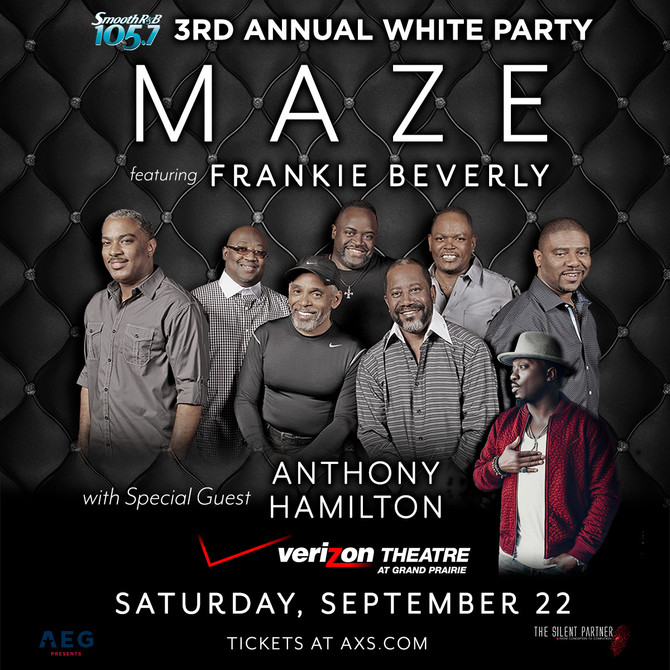 Just Announced: Maze feat. Frankie Beverly with spcl guest Anthony Hamilton
