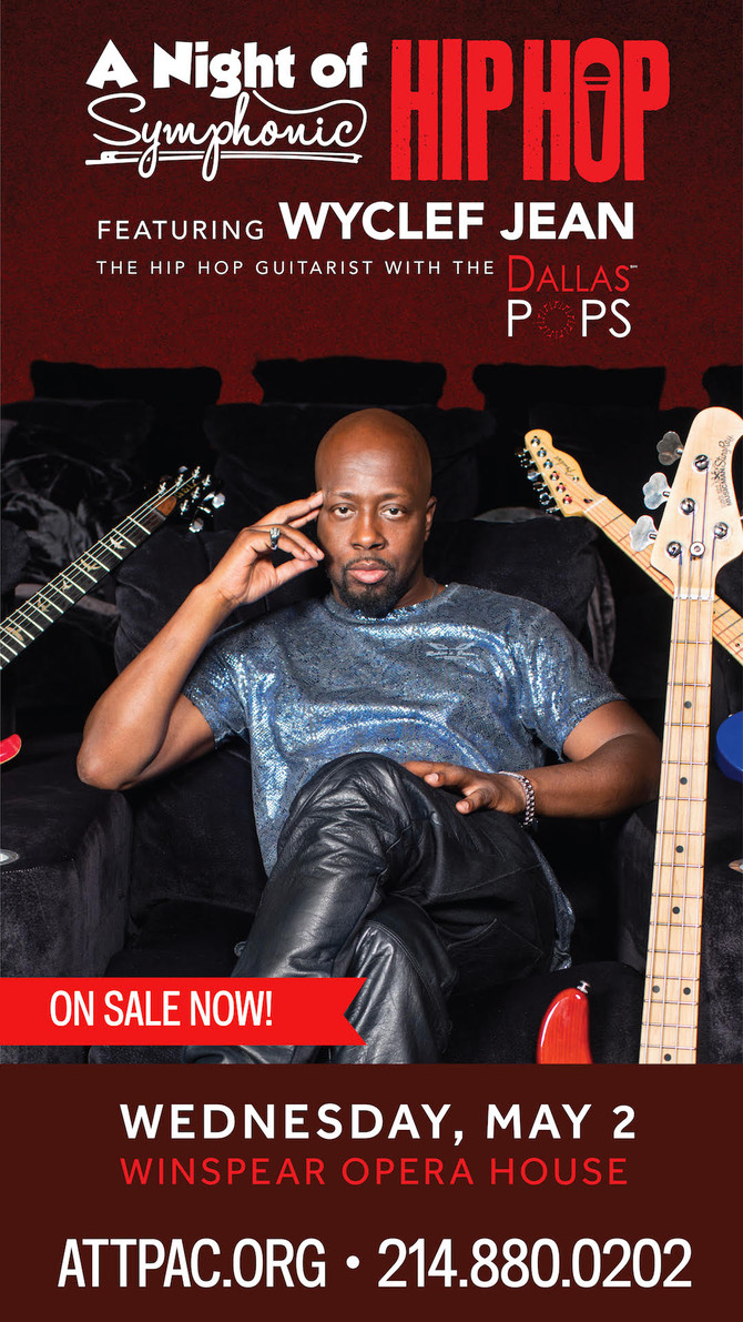 "Tonight Don't Miss ""A Night of Symphonic Hip Hop"" feat. Wyclef Jean The Hip Hop Guitar"