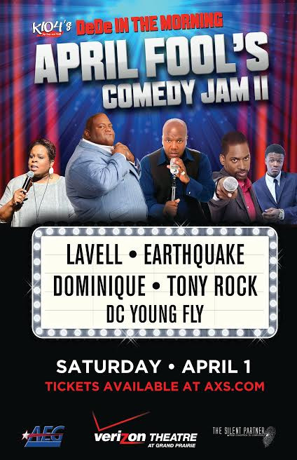 April Fool's Comedy Jam starring Lavell Crawford, Dominique, Earthquake, Tony Rock and DC Young