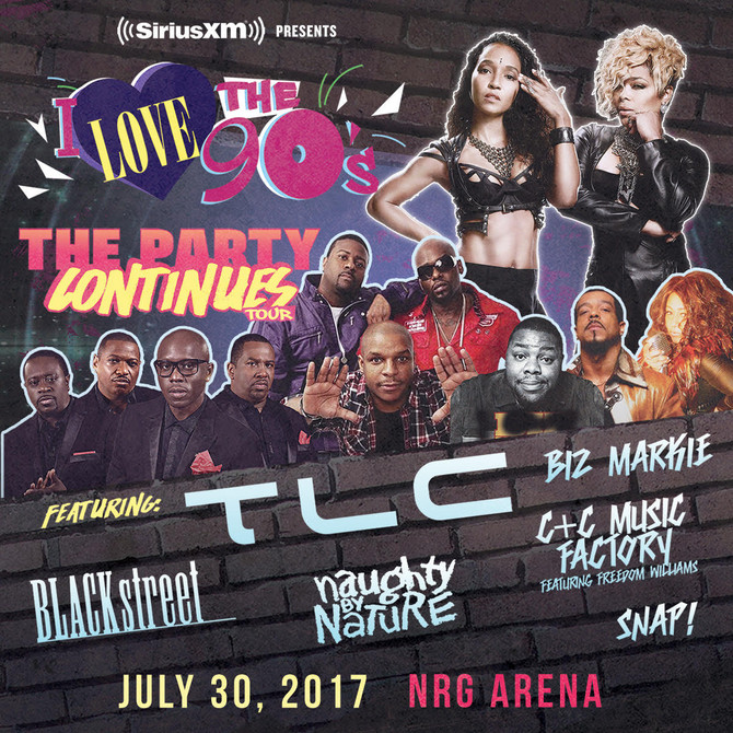 I Love the 90s The Party Continues Tour TLC with special guests Sun, July 30th