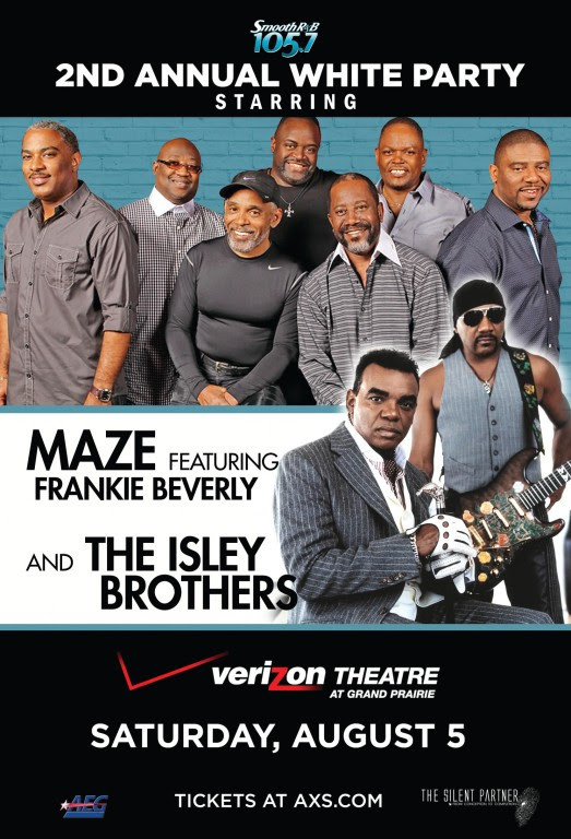 105.7 presents 2nd Annual White Party  Maze featuring Frankie Beverly with special guest The Isley B