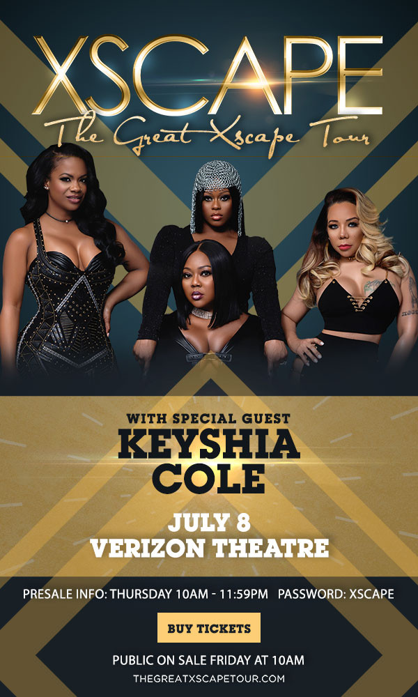 "Just announced Xscape ""The Great Xscape Tour"" w/ Keyshia Cole"