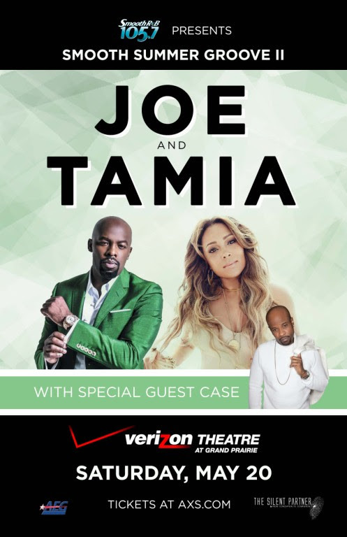 """105.7 Presents """"Smooth Summer Groove II"""" Joe & Tamia with Special Guest Case Sat, May"""
