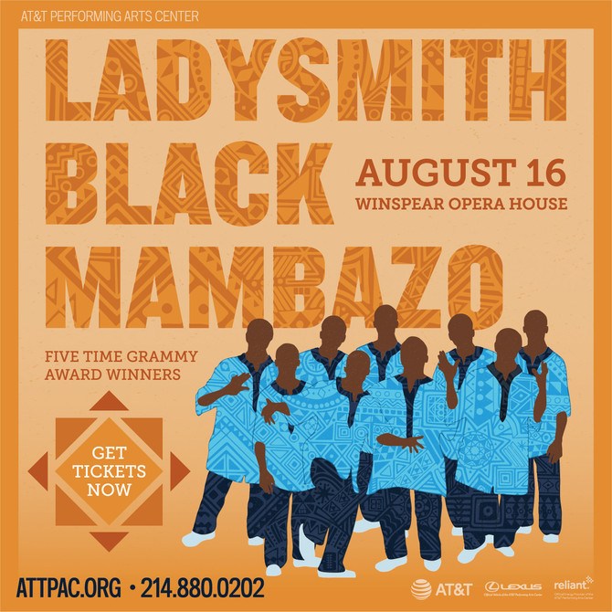 Ladysmith Black Mambazo Live Thurs. Aug. 16, 2018 at AT&T Pac, Winspear Opera House