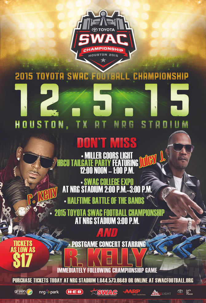 2015 Toyota SWAC Football Championship with R. Kelly & Juicy J