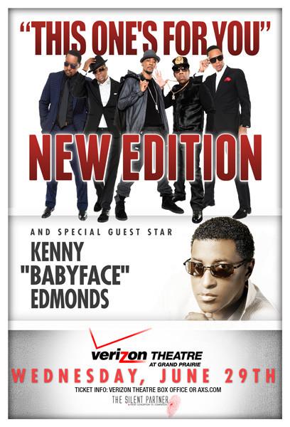"New Edition & Kenny ""Babyface"" Edmonds Live @VerizonTheatre 6/29 On Sale this Fri. 4/2"