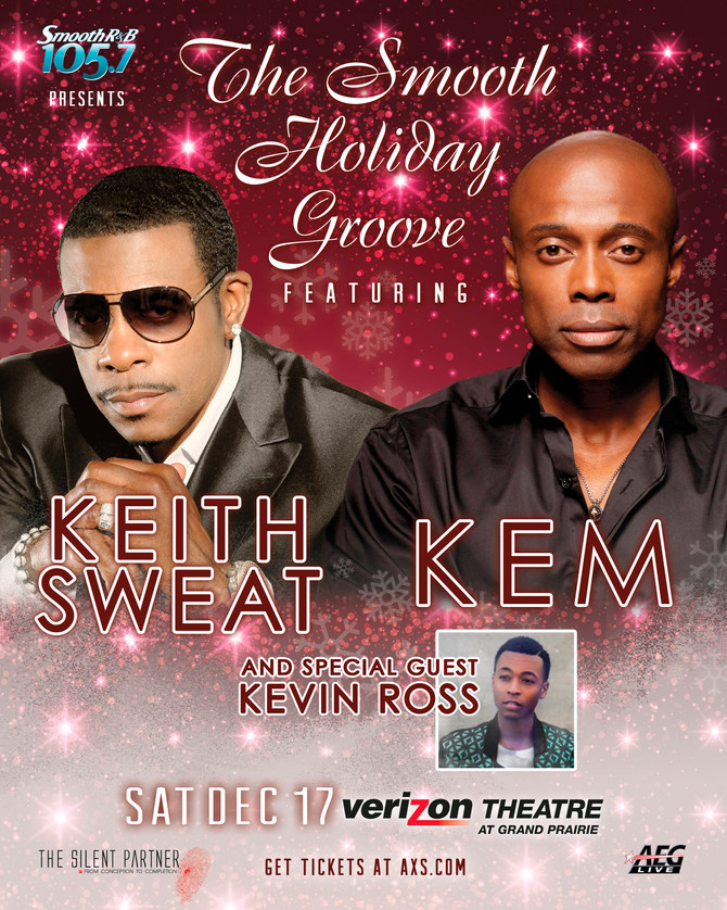 Tickets on sale now! The #SmoothHolidayGroove f/Keith Sweat, Kem Live & special guest Kevin Ross