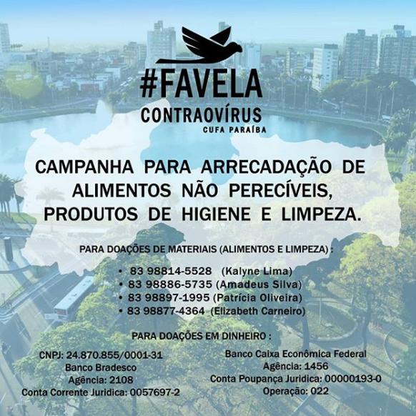 Favela Contra o Vírus - Cufa Paraíba