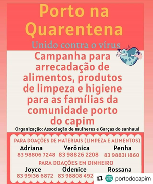 Porto da quarentena - Porto do Capim