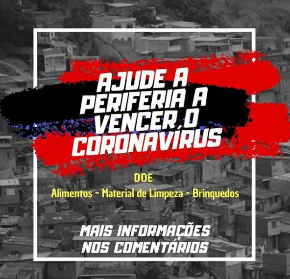 Ajude a periferia a vencer o Coronavírus