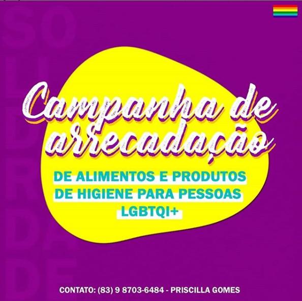 Campanha de arrecadação LGBTQI+