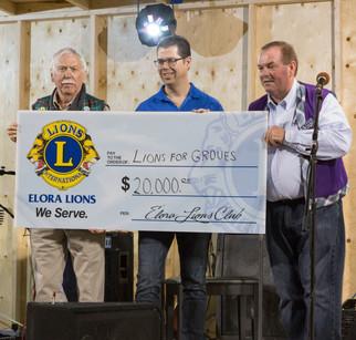 Lions for Groves $20K!
