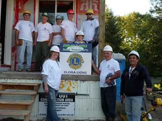 Elora Lions helped Habbit for Humanity.