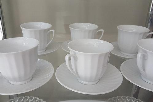 Juego de Porcelana Portugués Blanco Albo