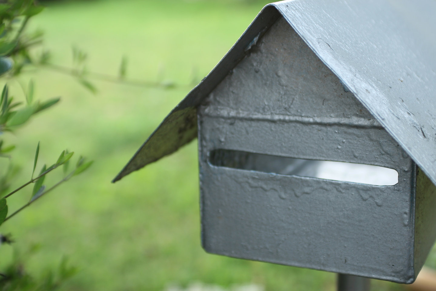 Silver Mail Box