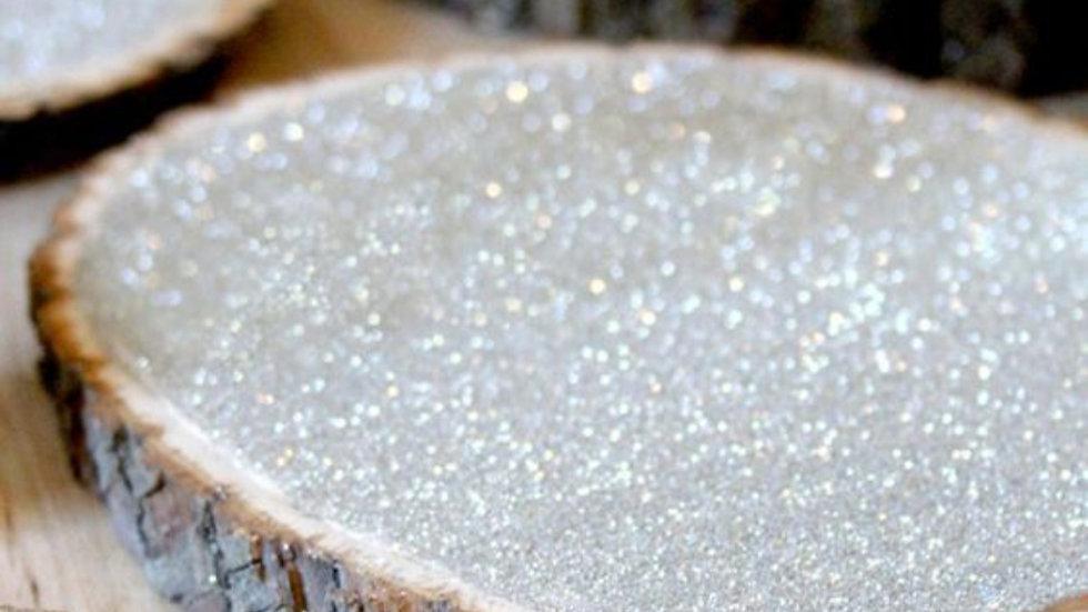 Glitter Wood Slice Centerpieces