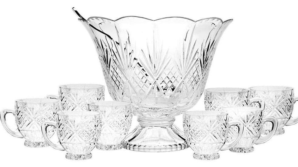 Crystal Punch Bowls & Glasses