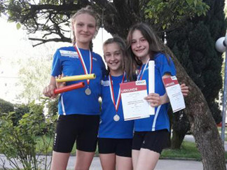 U14 Mädchen sind Vizelandesmeisterinnen in der Staffel