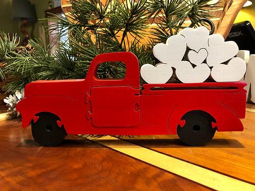 Valentine's Truck w/ hearts