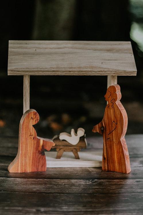 "Mary, Joseph & Baby Jesus for ""Come Gather Around and Worship"" Nativity"