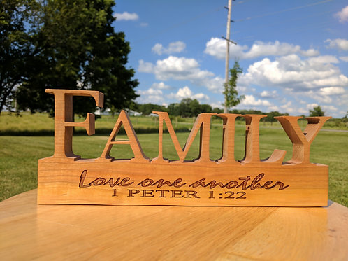 "Family Engraved ""Love One Another"""