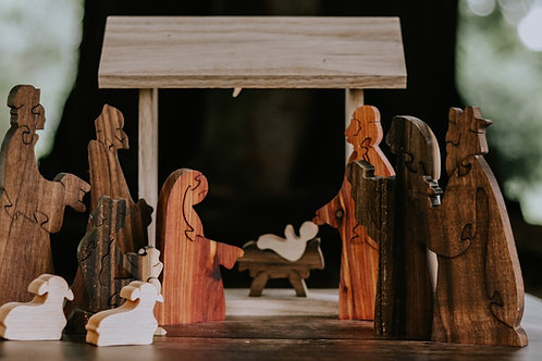 """Shepherds & Sheep for """"Come Gather Around and Worship"""" Nativity"""