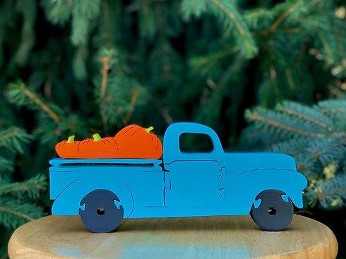 Truck w/ pumpkins