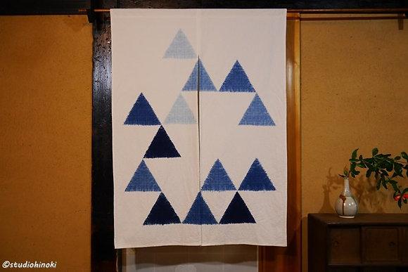 No.9 絞りのれん 藍染