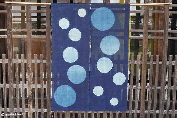 No.13  絞りのれん 藍染