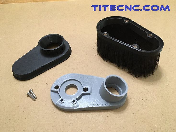 CNC Dust Shoe for Dewalt DWP611 - 35mm ID vacuum hose