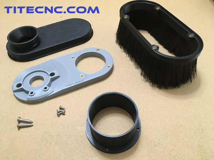 CNC Dust Shoe for Dewalt DWP611 - Custom size vacuum attachment