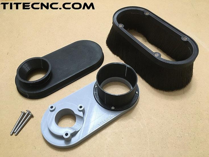 CNC Dust Shoe for Dewalt DW618 - Custom size vacuum attachment