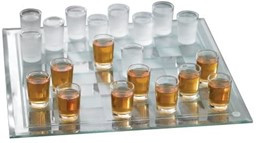 Shot Checkers played with shot glasses