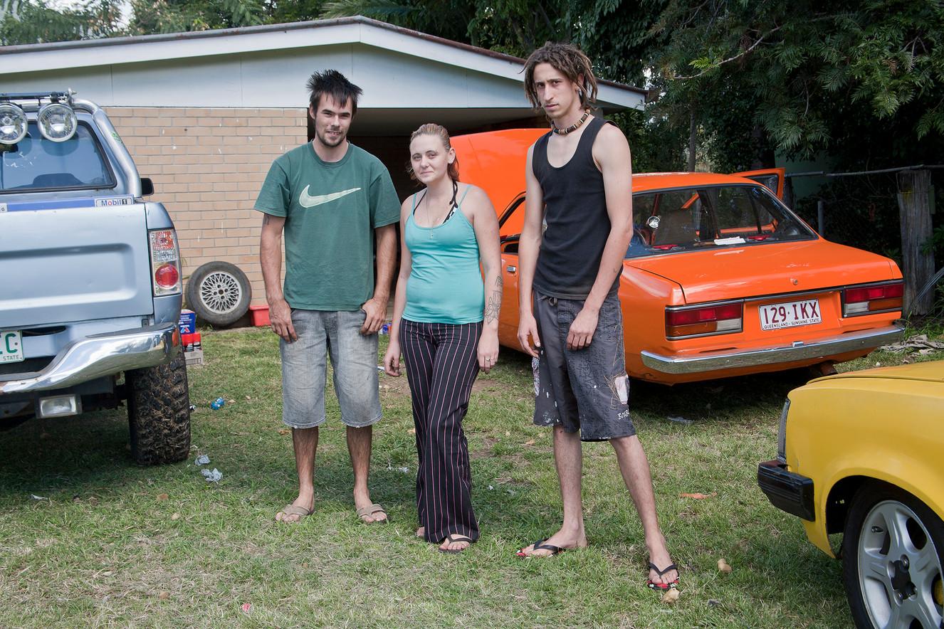 Three people Elizabeth Street, Aratula