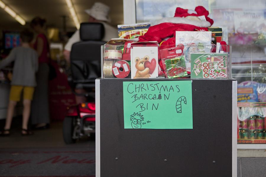 Christmas bargain bin