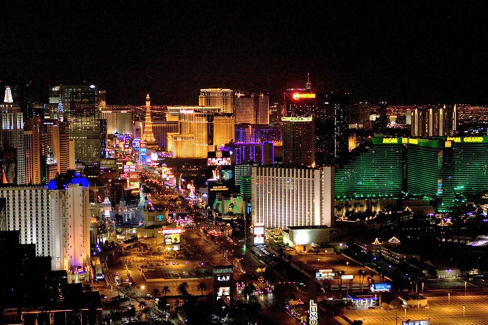 Las Vegas, Nevada Strip from above