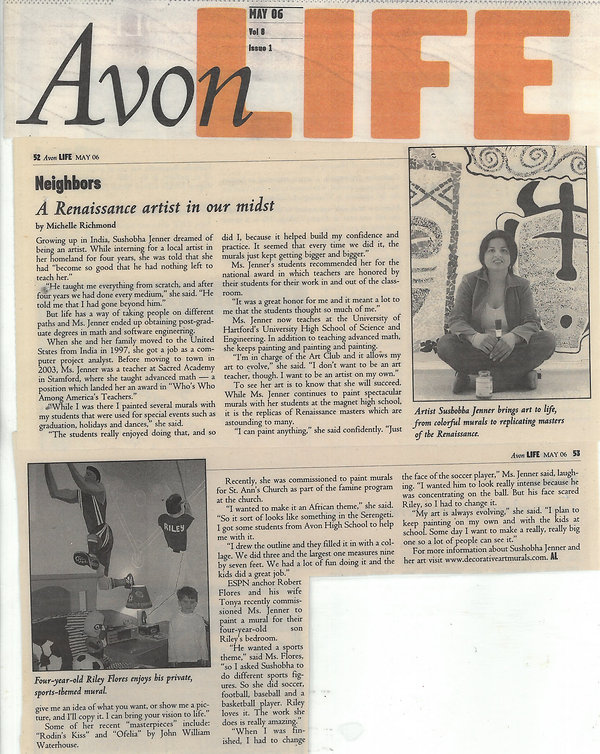 Avon Life Press Release - A Renaissance artist in our midst