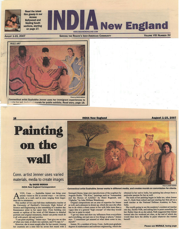 India New England Press Release - Connecticut artist uses her immigrant experience to create art