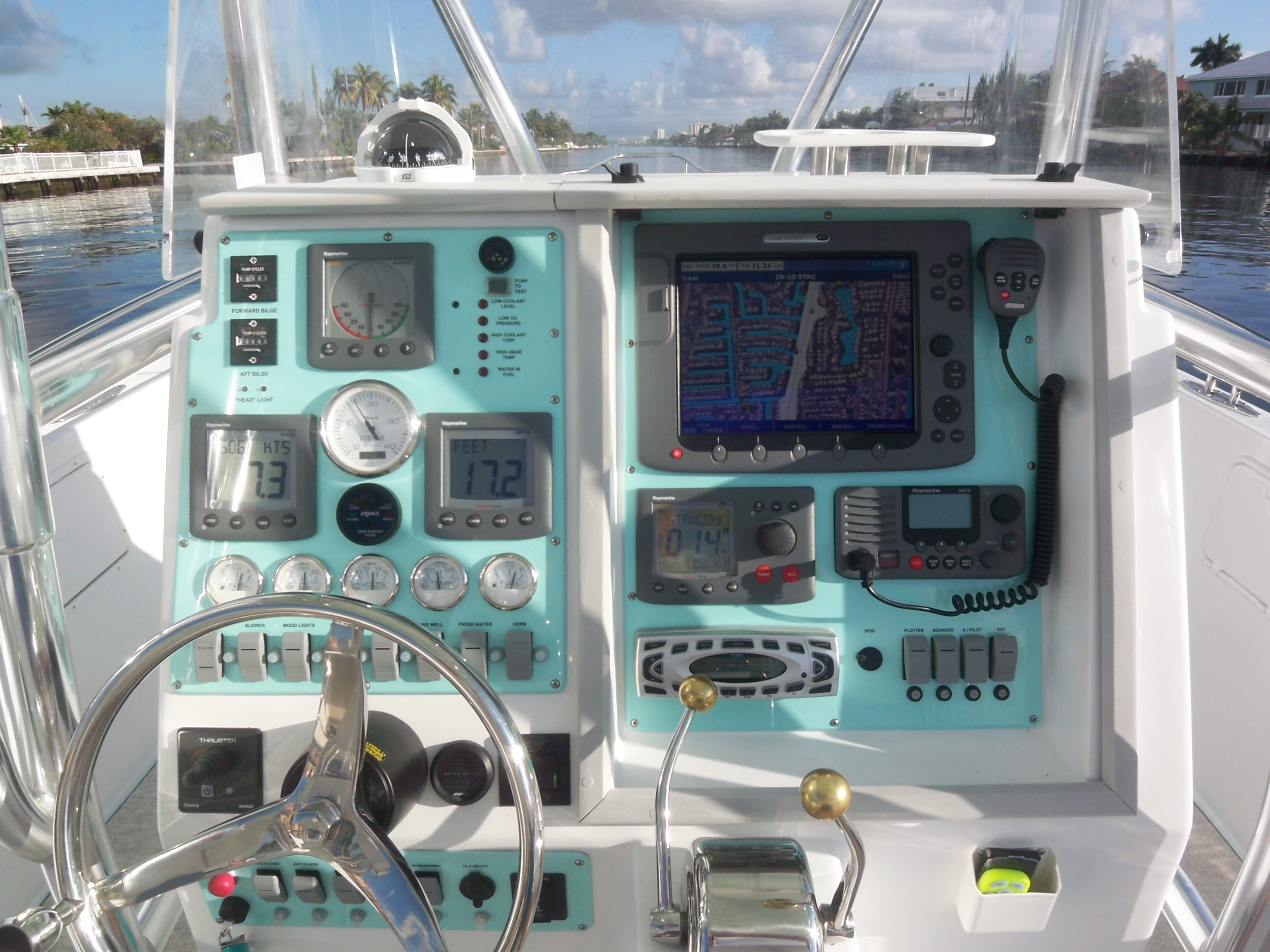 CUSTOM BOAT FISHING DASH PANEL