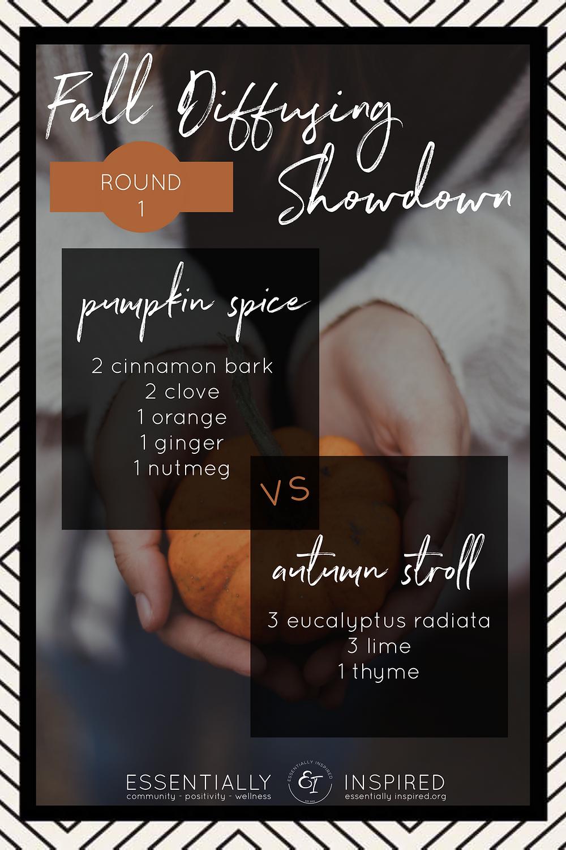 Pumpkin Spice vs Autumn Stroll diffuser recipe blend showdown!
