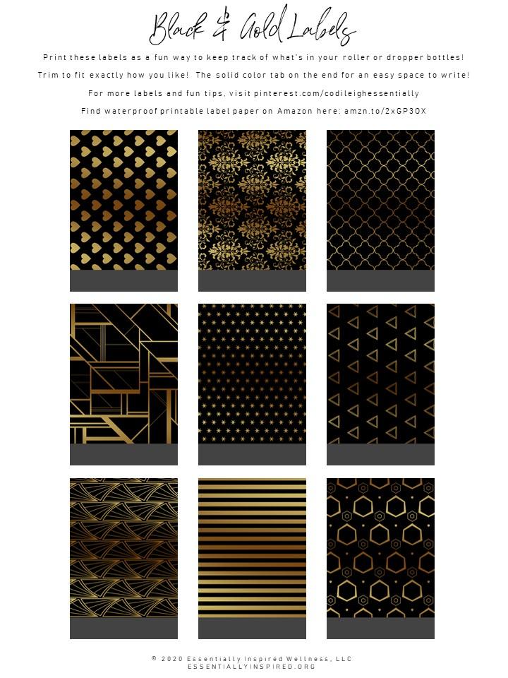 Black & Gold Labels