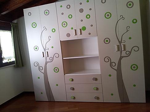 armadio stanzetta con decoro